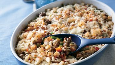 Layered Beef and Potato Casserole