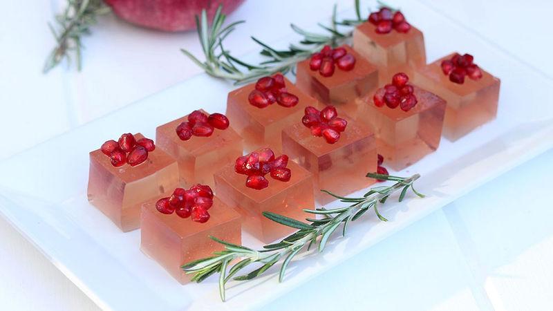 Rosemary and Pomegranate Holiday Jello Shot