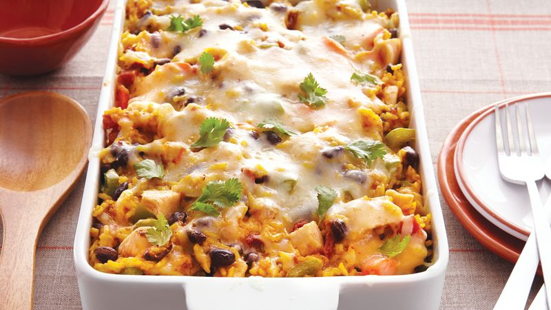 Cheesy Baked Chicken and Rice