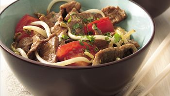 Szechuan Beef and Bean Sprouts