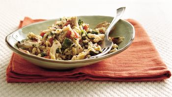 Chicken, Spinach and Rice Supper