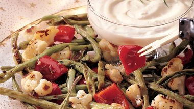 Roasted Vegetables with Tarragon Dip