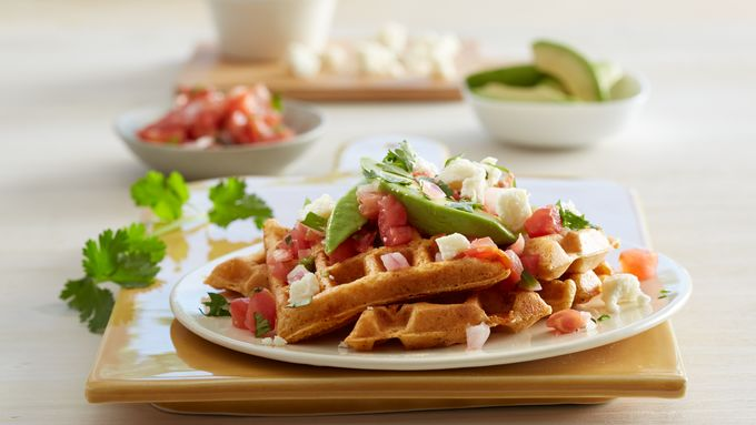 Spicy Cornmeal Waffles