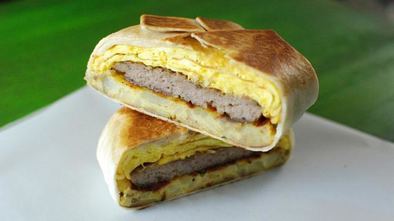 Copycat Breakfast Crunchy Wrap