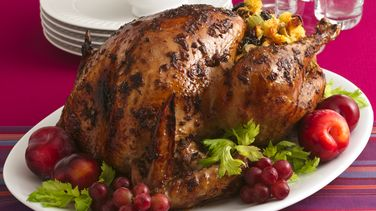 Roast Turkey with Fruit and Meat Stuffing