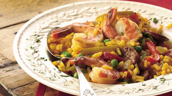 Sausage and Shrimp Paella
