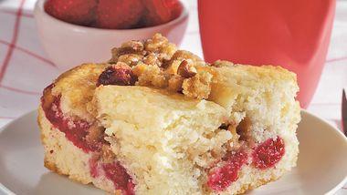 Raspberry Streusel Snack Cake