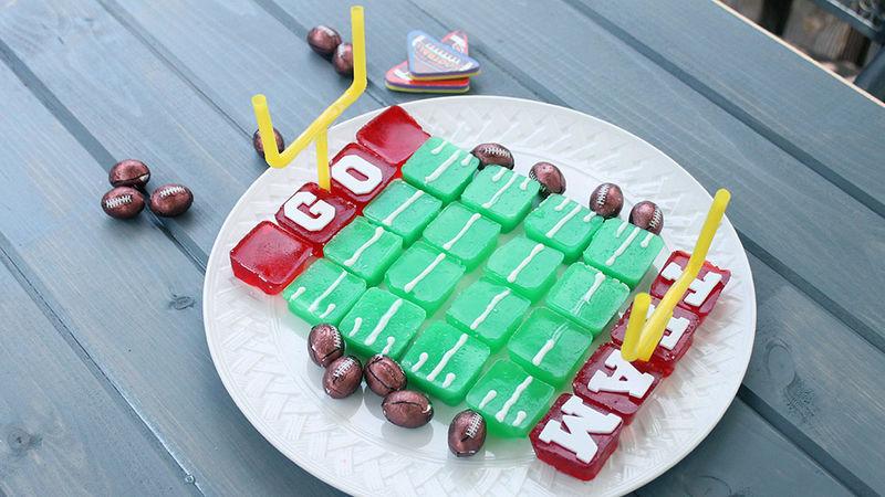 Football Field Jello Shots
