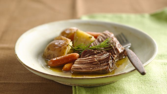 Slow-Cooker Beef and Potatoes with Rosemary