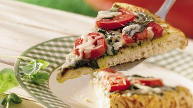 Grilled Italian Pesto Pizza