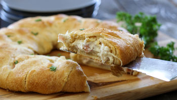 Chicken Cordon Bleu Crescent Ring