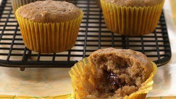 Banana-Oatmeal Surprise Mini Muffins