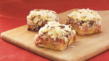Easy Coconut Cherry Bars