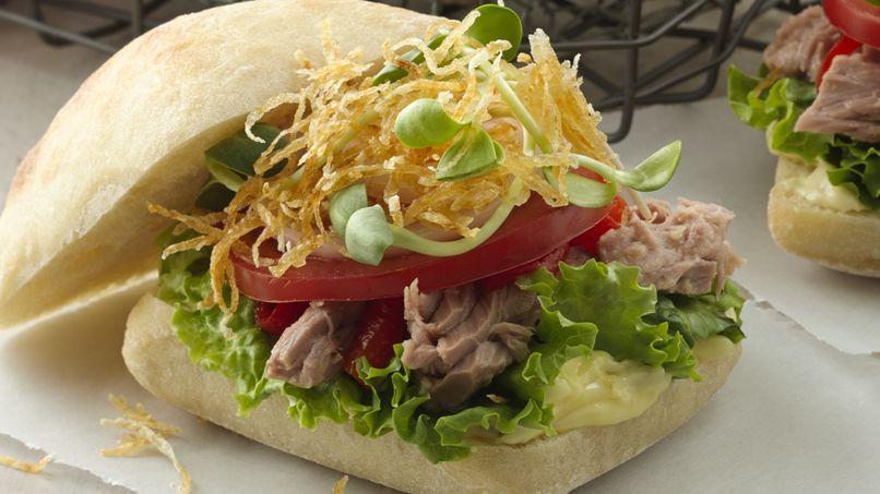Sandwich Niçoise de Atún y Aïoli de Aceitunas
