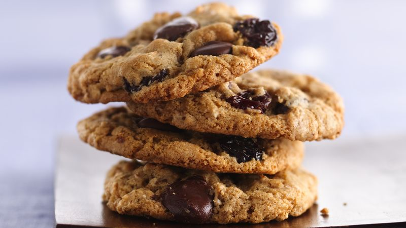 Dark Chocolate Cherry Multigrain Cookies recipe from Betty Crocker