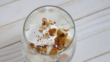 Cinnamon Coffee Cake Rice Pudding Parfait