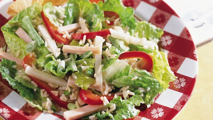 Turkey Rice and Romaine Salad