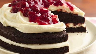 Gluten-Free Cherries and Cream Devil's Food Cake