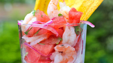 Watermelon and Shrimp Ceviche