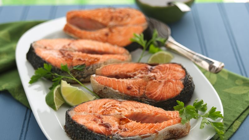 Braised Salmon with Soy-Ginger Sauce