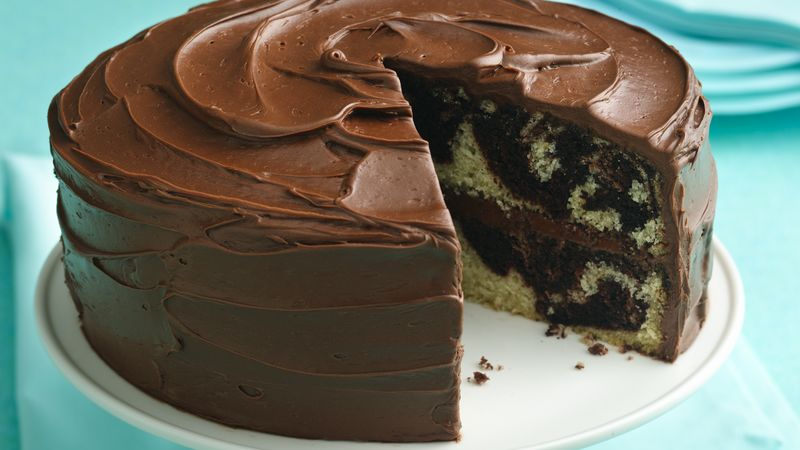 How To Decorate A Marble Cake