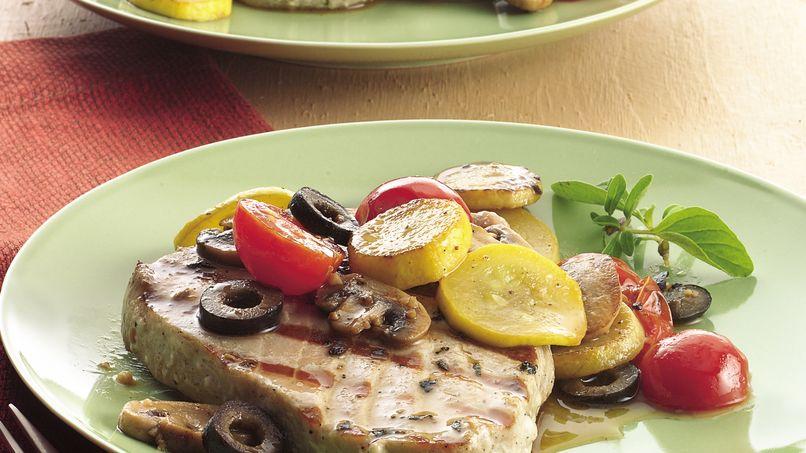 Tuna with Mediterranean Vegetables