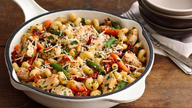 Asiago Chicken and Cavatappi