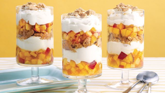 Nectarine Cheesecake Parfaits
