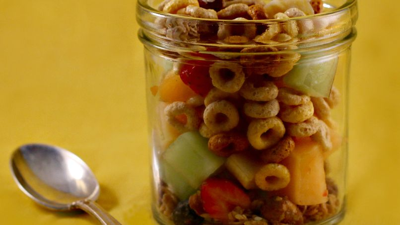 Fresh Fruits with Nuts and Cereal