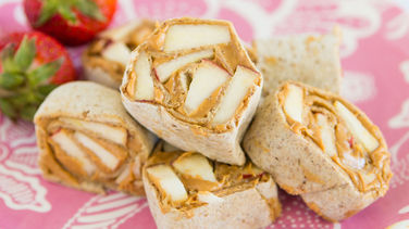 Peanut Butter and Apple Wraps
