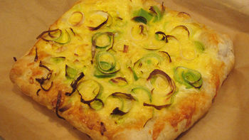 Irish Leek and Cheddar Tart