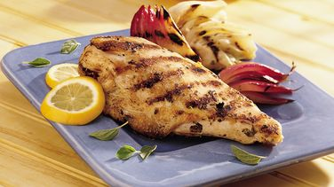 Lemon Chicken with Grilled Fennel and Onions