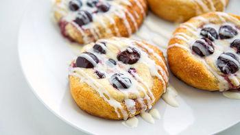 Cream Cheese and Cherry Danish Biscuits