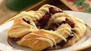 Cranberry Crescent Pastries