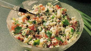 Cheese and Ham Tabbouleh Salad