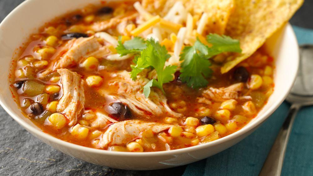 Slow-Cooker Chicken Enchilada Soup recipe from Pillsbury.com