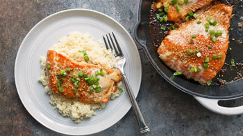 One-Pan Chili Maple Salmon