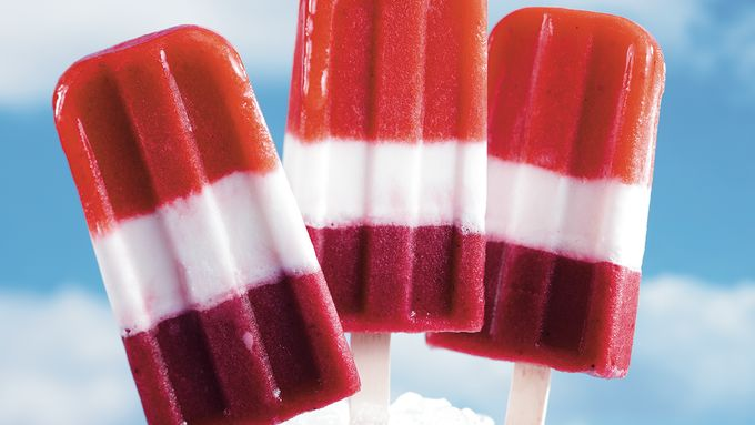 Red, White and Blueberry Pops
