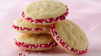 Almond Buttercream Sandwich Cookies