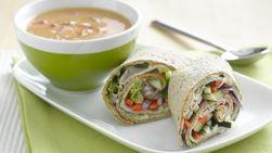 Wraps de Pavo y Verduras con Acompañamiento de Sopa