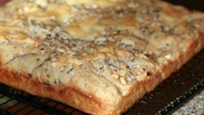 Multi-Grain Focaccia with Herbs and Garlic