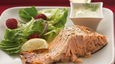 Grilled Dill-Mustard Salmon