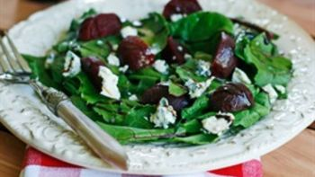 Easy Beet and Greens Salad