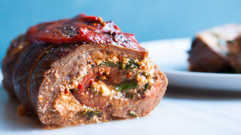Spinach- and Feta-Stuffed Flank Steak