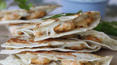Parmesan Shrimp Quesadillas