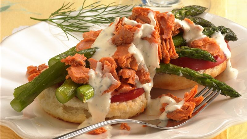 Salmon-Asparagus Biscuits