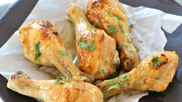 Beer Basted Roasted Chicken with Honey