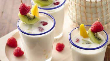 Agua Fresca de Horchata con Frutas