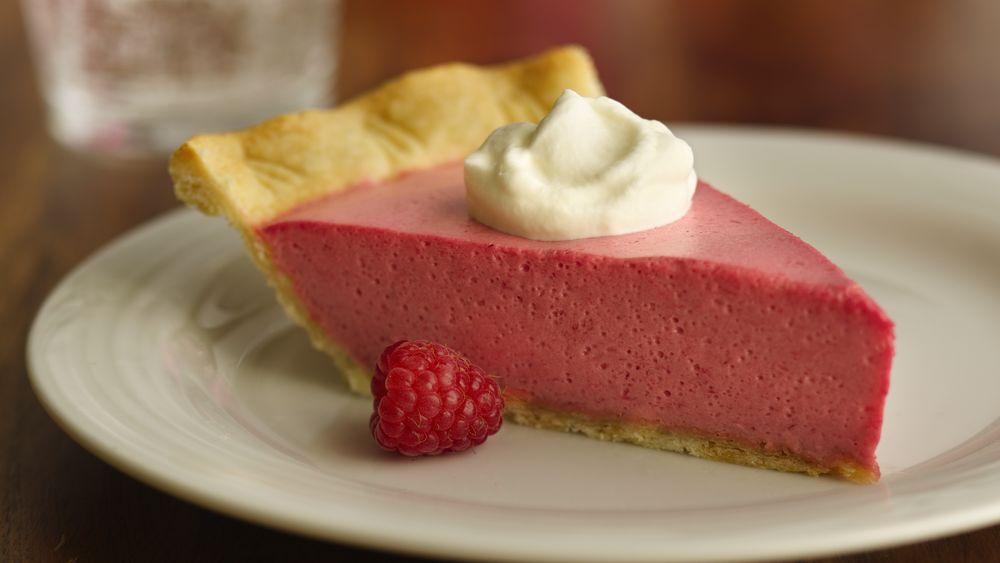 Raspberry-Lavender Cream Pie
