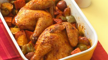 Roast Cornish Hen with Vegetables